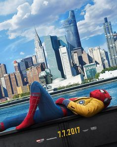 "Marvel Entertainment (@marvel) på Instagram: ""Homework can wait. The city can't. #SpiderManHomecoming"""