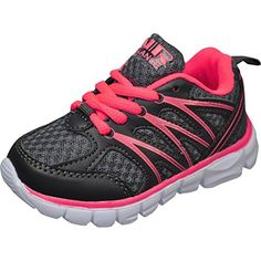 572075f4cbc9 love those Air Balance Little Girls Lightweight Cross Trainer Shoes  -Grey Coral Bowling Shoes