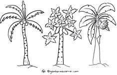 Gambar Mewarnai Pohon Terbaru