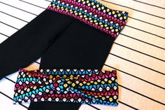 Baby Girl Colorful Yoga Pants With Matching turban by OnesiesForElliott, $12.00
