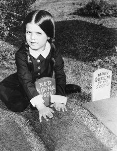 Lisa Loring as Wednesday Addams, 1964.