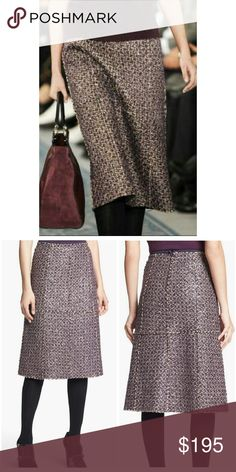 New Tory Burch Boucle Tweed Skirt  below knee New Tory Burch boucle tweed skirt.   Made of unique boucle tweed that combines houndstooth fabric with metalic lace,  embroidered with tiny sequins.  Straight fitting,  knee- length silhouette.  Size 2. Tory Burch Skirts A-Line or Full