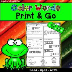 Color Names: Handwriting Worksheets - Sight Word Worksheets - Activities include reading, tracing, writing, spelling, and coloring the color sight words! #angelicasresources #sighwords #worksheets #colornames #colors #handwritingworksheets #preschool #kindergarten #firstgrade #secondgrade Alphabet Words, Cvc Words, Sight Words, Sight Word Worksheets, Handwriting Worksheets, Handwriting Practice, Learning Colors, Fun Learning, Teaching Kindergarten