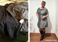 Kleid aus alten Herrenhosen #Refashion #MILCH.tm