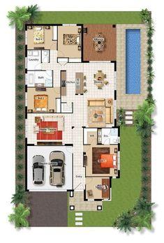 15 Desain Rumah Mewah 1 Lantai 4 Kamar Desain Rumah Modern