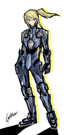 """""""Zero Suit Samus (redesign)"""" by gaijinrocket.deviantart.com on @DeviantArt"""