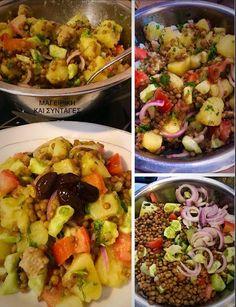 Σαλάτα δροσερή ελαφρυά υγιεινή !!! ~ ΜΑΓΕΙΡΙΚΗ ΚΑΙ ΣΥΝΤΑΓΕΣ 2 Potato Salad, Potatoes, Ethnic Recipes, Food, Potato, Essen, Meals, Yemek, Eten