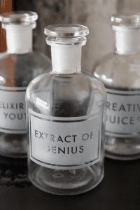 Etched Apothecary Bottle 250ml: Extract of Genius Rockett St. George