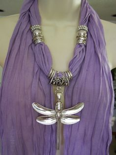Ok, I want one in every color.Lavender Jewelry Scarf necklace scarf necklace by Lacesanddreams, $23.00