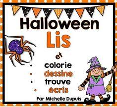 Halloween - French resource - Voici de simples et amusantes activités de lecture pour le thème d'Halloween.