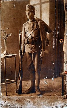 Ioan Mihăescu (b. 8 August 1897 - d. 29 November 1987) Romanian soldier (from the historical region of Banat) in Austro-Hungarian uniform, in 1917. [1002 x 1600] - Imgur