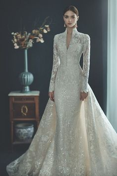 Country Wedding Dresses, Modest Wedding Dresses, Unique Dresses, Elegant Wedding Dress, Elegant Dresses, Pretty Dresses, Bridal Dresses, Wedding Lace, Unique Wedding Gowns