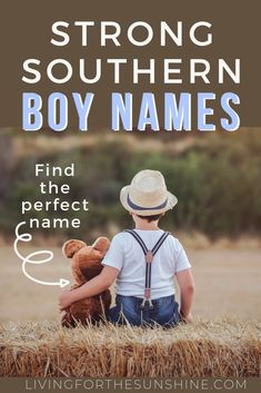 Looking for a Southern boy name that is strong and unique? These great Southern names for boys will help you find the perfect name for your baby boy! Lots of unique names, vintage names, country names Southern Boy Names, Country Boy Names, Cute Country Boys, Short Boy Names, Strong Boys Names, Unique Boy Names, Unique Baby, S Names For Boys, Black Boy Names