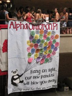 Love the idea of recognizing each new member on a Bid Day banner! Could you shout out parents/moms too for mom's weekend? SURE!!!