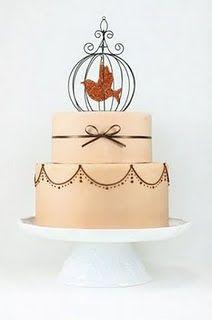 Another elegant bird cage wedding cake.