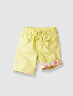 Girl's Printed Shorts with Turn-Ups