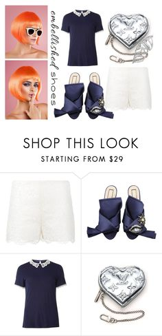 """""""Orange Hair Mood"""" by cinderella-slipper ❤ liked on Polyvore featuring Valentino, N°21, Dorothy Perkins, Louis Vuitton, contest, shoes, embellishedshoes and CinderellaSlipper"""