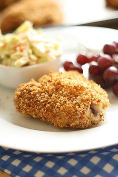 Oven Fried Chicken & The Best Coleslaw EVER http://www.laurenslatest.com/oven-fried-chicken-the-best-coleslaw-ever/