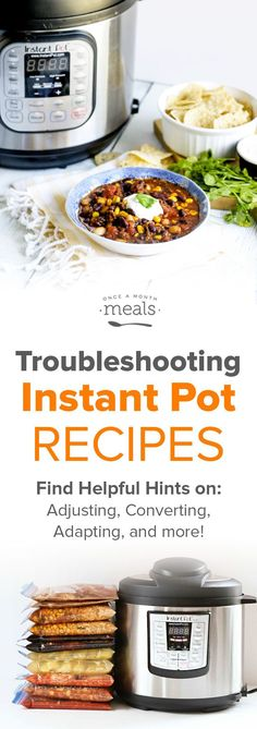 Troubleshooting Instant Pot Recipes via @onceamonthmeals