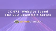 As we continue our SEO Essentials series, we're discussing how the speed of your website plays a crucial role in your conversion rates, so much so that thi ...