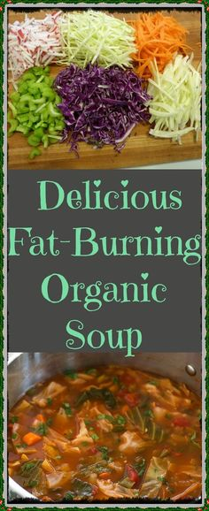 Obesity, type 2 diabetes, hypertension and heart disease are common disorders and an unhealthy diet can have a negative impact to your health. Fat Burning Soup, Fat Burning Foods, Healthy Soup Recipes, Detox Recipes, Cooking Recipes, Diet Snacks, Healthy Snacks, Healthy Tips, Organic Soup