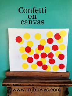project 20 of 33 : confetti on canvas.