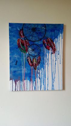 Dream catcher/ acrylic painting Opened store on Etsy! Check it up my loves! <3