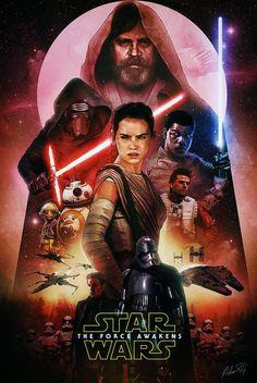 redskullsmadhouse:    Adam Relf - Star Wars The Force Awakens poster