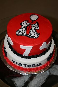Rachel's Creative Cakes: Dalmation Birthday Cake