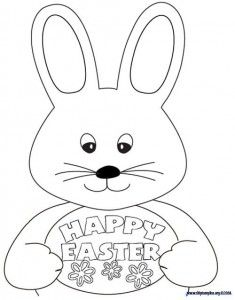 Inspirational Free Easter Bunny Coloring Pages 94 easter coloring page