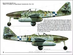 Me 163, He 162, Me 262 - Last hope of the Luftwaffe Top colors 37 ...