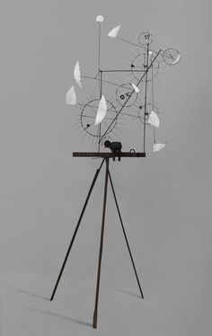 Jean Tinguely, Metamechanical Sculpture with Tripod, 1954 - http://www.tate.org.uk/art/artworks/tinguely-metamechanical-sculpture-with-tripod-t03823#