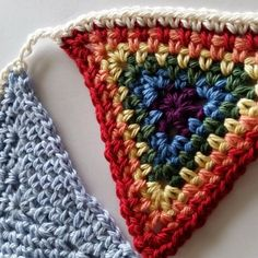 Designed for International Crochet Day, this crochet bunting free pattern comes with round by round pictures