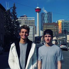 Chris and Crawford Collins are together again in their home country! The Youtube and Vine famous brothers are back at it again. The older brother is known as Weekly Chris, and he posted this photo on Instagram with his bro in Canada! We hope they're having a blast! Twitter: @WeeklyChris Instagram: @weeklychris Photo: Christian Collins/Instagram