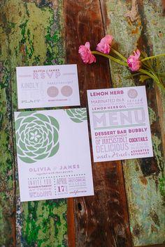 modern wedding invitations http://itgirlweddings.com/kate-spade-inspired-wedding/