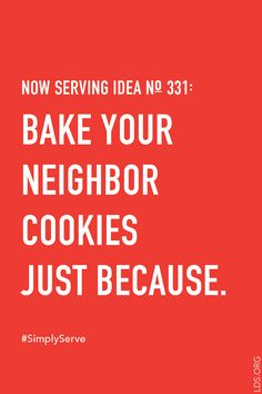 Whip up a batch of kindness. #SimplyServe