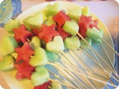 heart & star fruit cut-outs