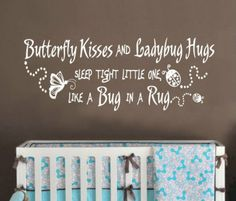 Girl Nursery - Ladybug Theme Wall decal. My baby girl must have this...I cry every time I hear this song