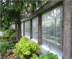 Mintner Garden water wall