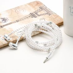 HOT PRODUCT - EAR STYLE - Pearl Chain Earphones with Mic