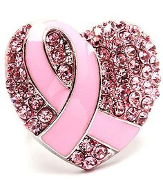 BREAST CANCER RIBBON RING