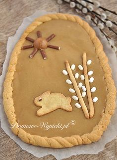Easter In Poland, Easter Recipes, Dessert Recipes, My Favorite Food, Favorite Recipes, Apple Pie Bars, Polish Recipes, Gingerbread Cookies, Sweet Recipes