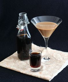 Vanilla Latte Martini made with sugar-free homemade kahlua