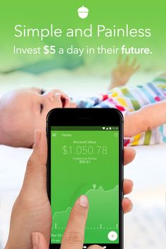This app will help you easily set aside and invest money into your children's future. Download Acorns for free!