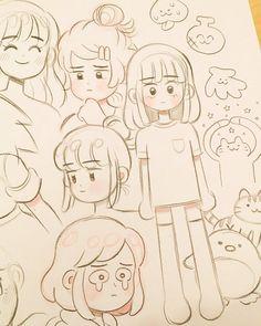 Art Sketchbook Drawing Cartoon – Art World 20 Anime Drawings Sketches, Cool Art Drawings, Pencil Drawings, Cute Cartoon Drawings, Anime Sketch, Cute Art Styles, Cartoon Art Styles, Cartoon Ideas, Arte Sketchbook