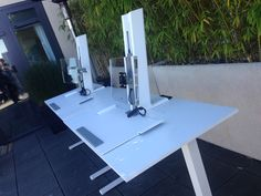 QuickStand height-adjustable solutions at the San Francisco event, August 21, 2014