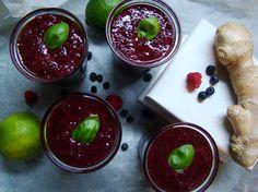 Borůvkovo-malinové smoothie se zázvorem