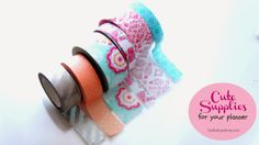 Washi tape is a must for every planner nerd!  Cute Supplies For Your Planner