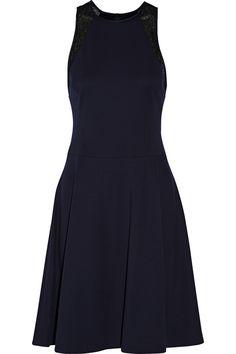 JASON WU Lace-Trimmed Ponte Dress. #jasonwu #cloth #dress