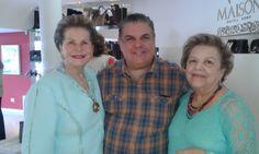 Florlinda Andraus, madrinha do evento, Ruy Barrozo e Yara Maron